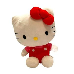 Hello Kitty Medium Plush Toy - Red with Pink Shirt